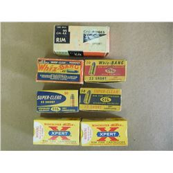ASSORTED LOT OF 22 AMMO INCL. WHIZ-BANG, SUPERCLEAN SHORT, WINCHESTER XPERT AND LONG RIFLE