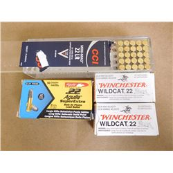 ASSORTED LOT OF 22 LR INCL. CCI WINCHESTER AND ARGUILA