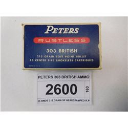 PETERS 303 BRITISH AMMO