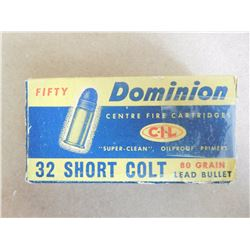 CIL DOMINION 32 SHORT COLT 80 GR LEAD BULLETS