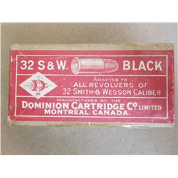 DOMINION CARTRIDGE CO 32 S& W BLACK POWDER
