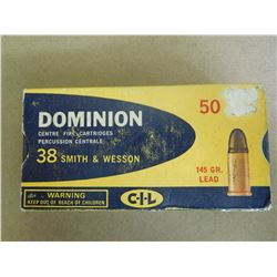 DOMINION 385 S & W 145 GR LEAD BULLET