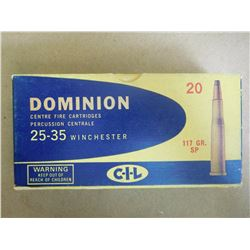 DOMINION 25-35 WINCHESTER 117 GR SP