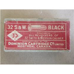 DOMINION CARTRIDGE 32 S & W BLACK C.F.