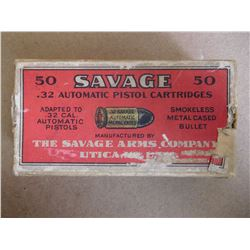 SAVAGE ARMS .32 SAVAGE PISTOL