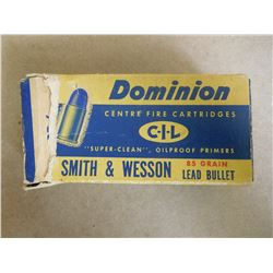 DOMINION CIL .32 S & W 85 GR LEAD BULLETS