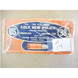 US COLT NEW POLICE .38 SMOKELESS C.F