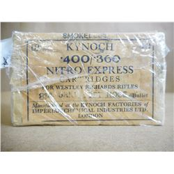KYNOCH 400/360. NITRO EXPRESS SOFT NOSE 814 GRNS SMOKELESS