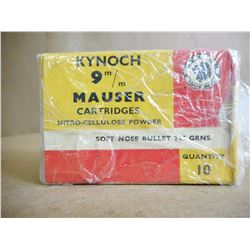 KYNOCH 9MM MAUSER SOFT NOSE 245 GRNS