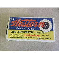 WESTERN CARTRIDGE 380 AUTOMATIC 95 GR FULL METAL CASE