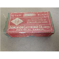 DOMINION .32 S & W BLACK POWDER  CARTRIDGES