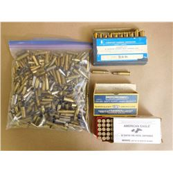 ASSORTED LOT OF BRASS INCL .357 MAG, 44 REM MAG, .45 WIN AND VARIOUS