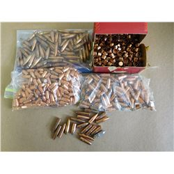ASSORTED LOT OF BULLETS AND BOX OF HERTERS .401 PISTOL JACKETS