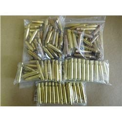 ASSORTED LOT OF 30-06 BRASS CASINGS/ .243 WIN
