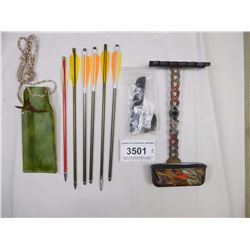 ASSORTED QUIVERS & ARROWS