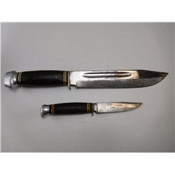FIXED BLADE KNIVES WITH DOUBLE SHEATH