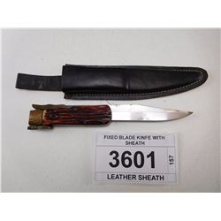 FIXED BLADE KINFE WITH SHEATH