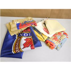 ASSORTED FLAGS & SHEETS