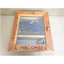 SHADOW BOX IN MEMORY OF L. MACOMBER
