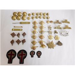 ASSORTED BADGES, PINS & PIPS