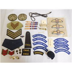 ASSORTED BADGES, RIBBONS AND BUTTONS