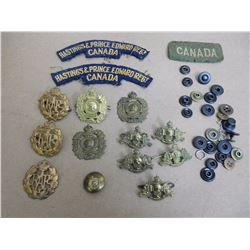 ASSORTED PINS WITH BADGES