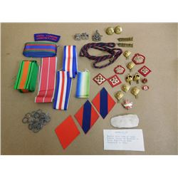 ASSORTED RIBBONS & PINS