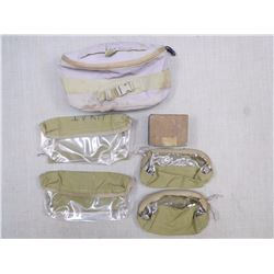 ASSORTED WEBBING & CLEANING BOX
