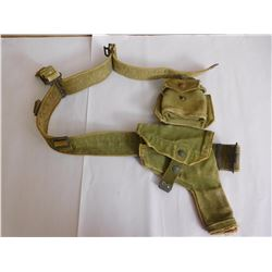 MILITARY BELT WITH ACCESSORIES