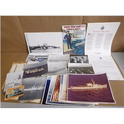 ASSORTED NAVY PHOTOS & PRINTS