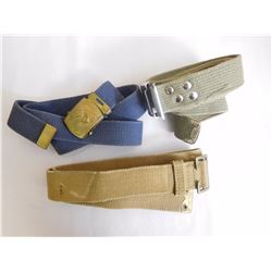 ASSORTED CANVAS BELTS