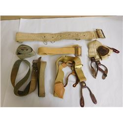 ASSORTED BELTS & SUSPENDERS