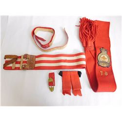 ASSORTED RED BELTS & SASHES
