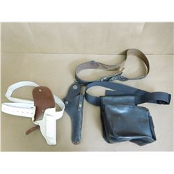 ASSORTED HOLSTERS & BELTS