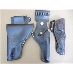 ASSORTED DARK LEATHER HOLSTERS