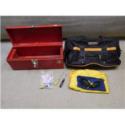 ASSORTED TOOL BAGS/BOX