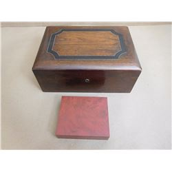 ASSORTED WOODEN BOXES & KNIFE