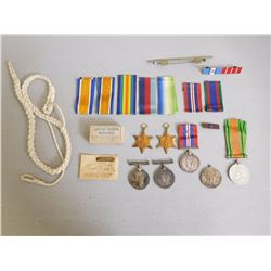 ASSORTED MEDALS & RIBBONS
