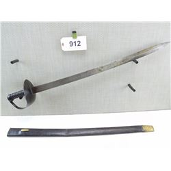 BRITISH 1845 CUTLASS SWORD AND SCABBARD