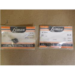"LYMAN 1/16"" IVORY FRONT SIGHTS"