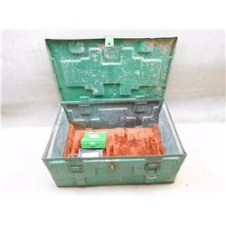 LARGE GREEN AMMO TIN & CASES
