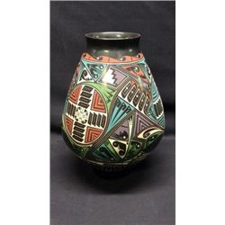 Hand Painted Indian Pot Artist Signed