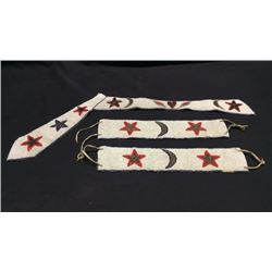 Sioux Beaded Ghost Dance Arm Bands And Neck Tie