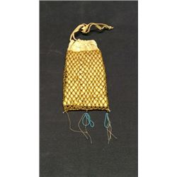 Apache Beaded Bag Translucent Greasy Yellows