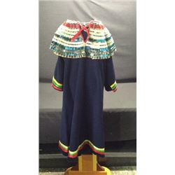 Nez Perce Ribbon Dance Dress With Bugle Beads
