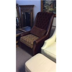 Century Fulton Chair Leather and Upholstery