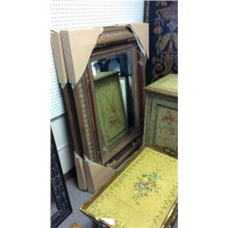 Century Beveled Mirror in Large Carved Frame