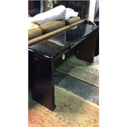 Century U Shaped Entry/Sofa Table with Black