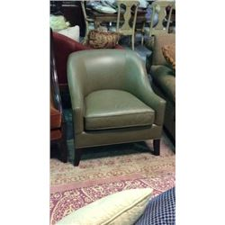 Distinction Leather Co Petite Leather Club Chair