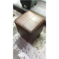 "Distinction Leather Co Foot Stool 17""x 16""x16"""